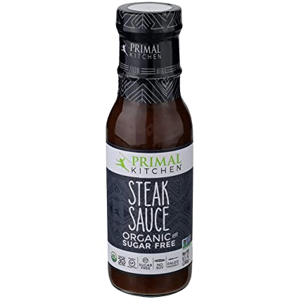 Amazon Com Primal Kitchen S Steak Sauce Organic And Sugar Free 8 Oz Pack Of 2 Grocery Gourmet Food