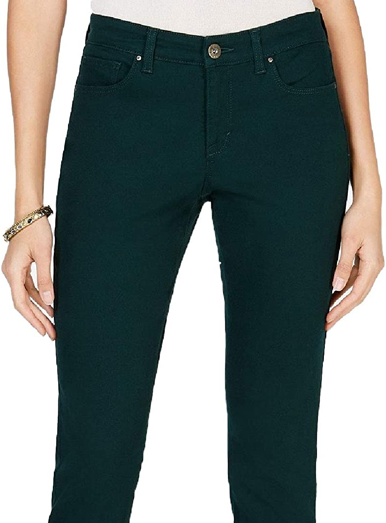 Style & Co. Womens Denim Slimming Skinny Jeans Green 14