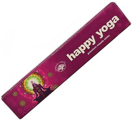 Amazon.com: Green Tree Happy Yoga Hand Rolled Incense Sticks ...