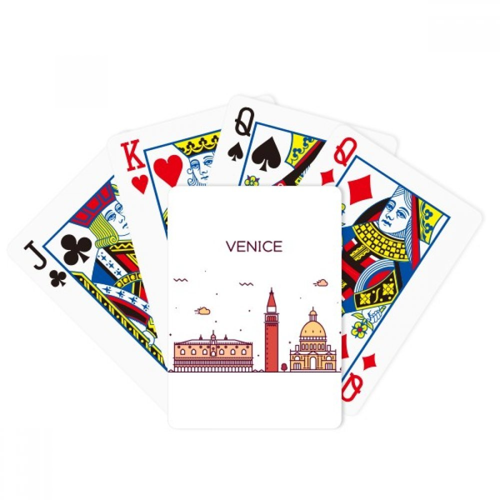 Venice Italy Flat Landmark Pattern Poker Playing Cards Tabletop Game Gift