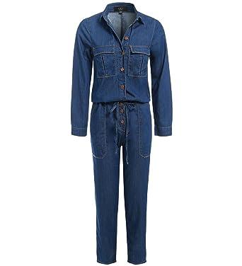 9dd06e6f24 SS7 Women s Denim Boiler suit Jumpsuit Indigo