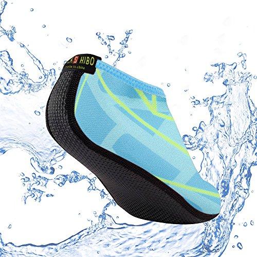 Damen Surfschuhe Grün Strandschuhe BarfußSchuhe Schwimmschuhe Wasserschuhe JACKSHIBO Aquaschuhe Badeschuhe C Herren Neoprenschuhe UZXq5