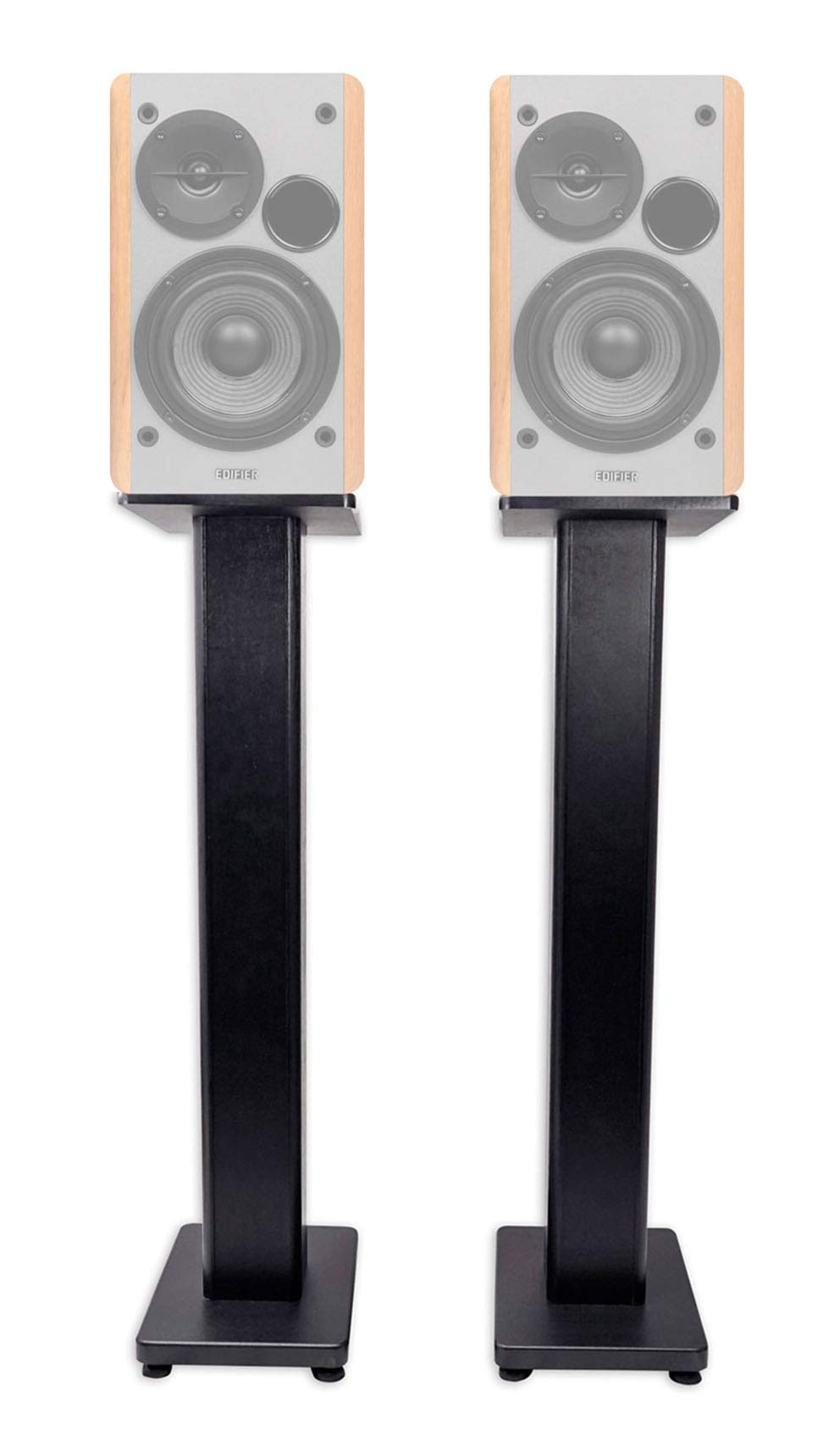 Pair 28'' Bookshelf Speaker Stands For Edifier R1280T Bookshelf Speakers-The Stands are not created by Edifier by Rockville