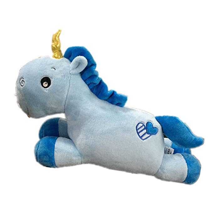 Amazon.com: Kenmont Soft Unicorn Stuffed Plush Toys Pillow Cushion, Blue: Toys & Games