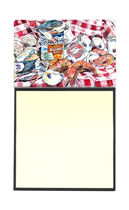 Caroline tesoros del Blue Runner Gumbo recetas rellenable titular o de notas adhesivas dispensador de Postit