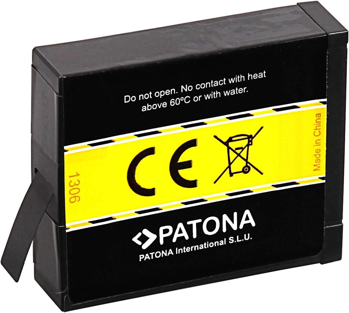 PATONA Double Chargeur avec 2X Batterie de Remplacement pour Insta360 adapt/é pour Insta360 One X Action Cam