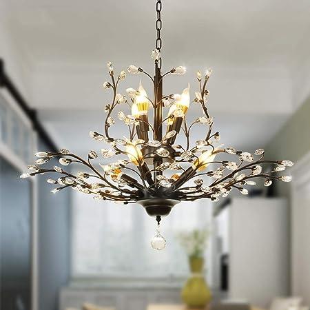 Creative G9 Light Source Metal 912 Light LED Chandelier 2 Tier Clear Glass Globe Chandelier in Antique Brass for Living Room Restaurant Bedroom