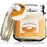 Pumpkin Pie Spice Scented Soy Candles | 8 oz Jar | Hand Made in The USA | Delicious Scent | Extra Clean Burning and Long-Last