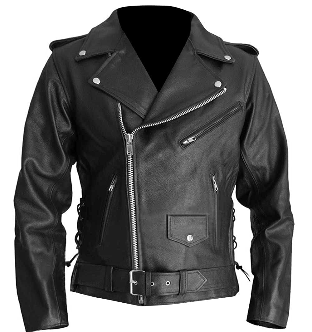 The Sparks Up Inc Terminator 2 Judgment Day Arnold Stylish Biker Faux Leather Jacket