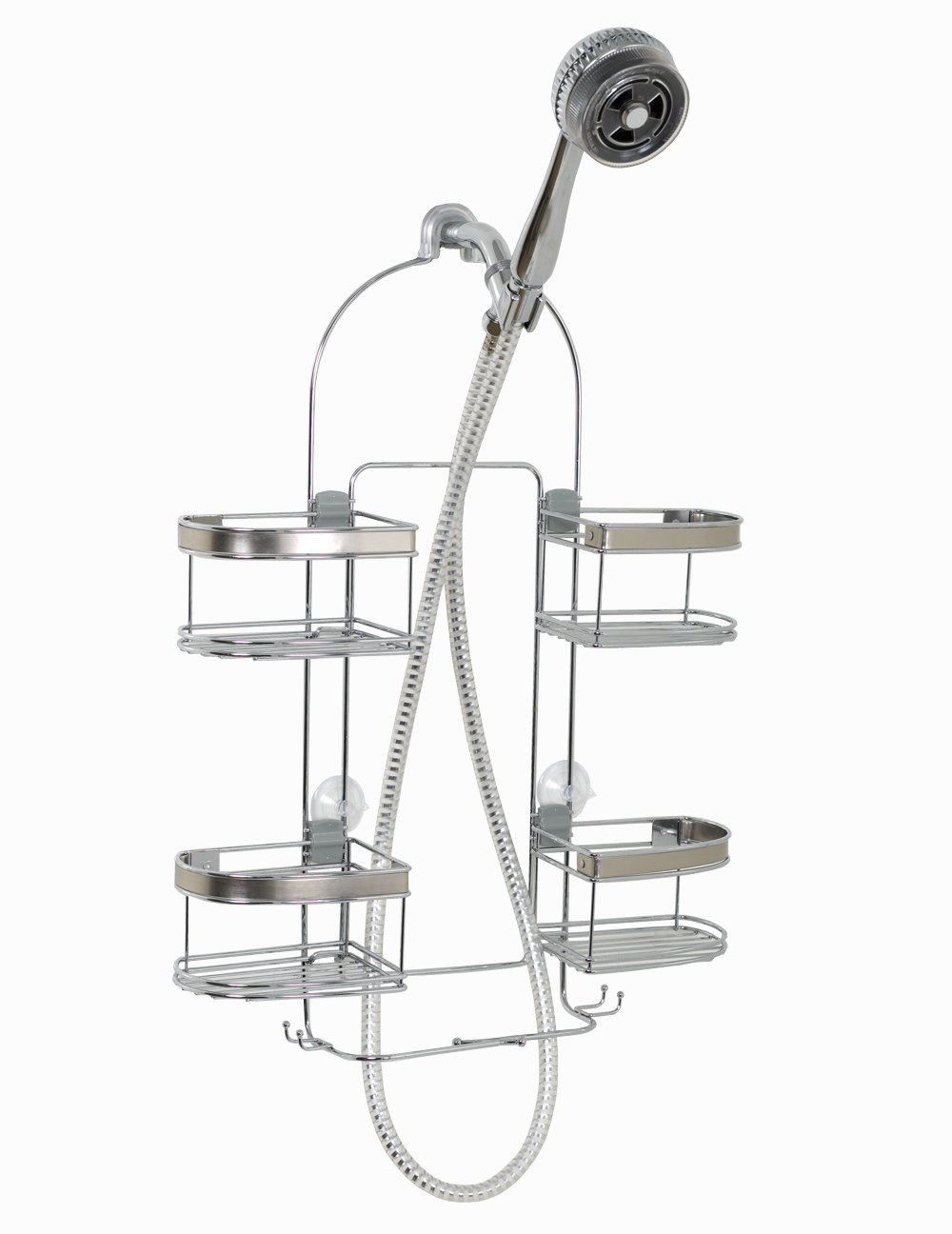 Amazon.com: Zenna Home 7546NSP, Expandable Over-the-Showerhead Caddy ...