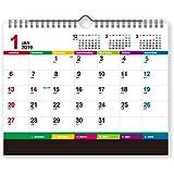 新日本カレンダー 2019年 カラーインデックス 2way カレンダー 壁掛け・卓上両用 NK8546 (2019年 1月始まり)