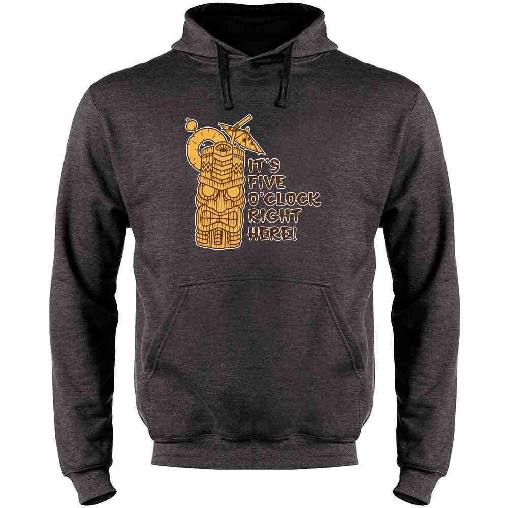 Tiki Mens Fleece Hoodie Sweatshirt Its 5 OClock Right Here