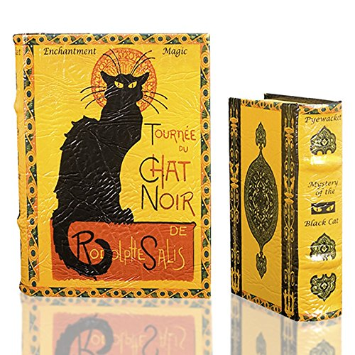 LE CHAT NOIR by Steinlen Black Cat Secret Book Box Set Jewelry Keepsake Trinket Box Tournee du Chat Noir Comes with Two Book Boxes ()