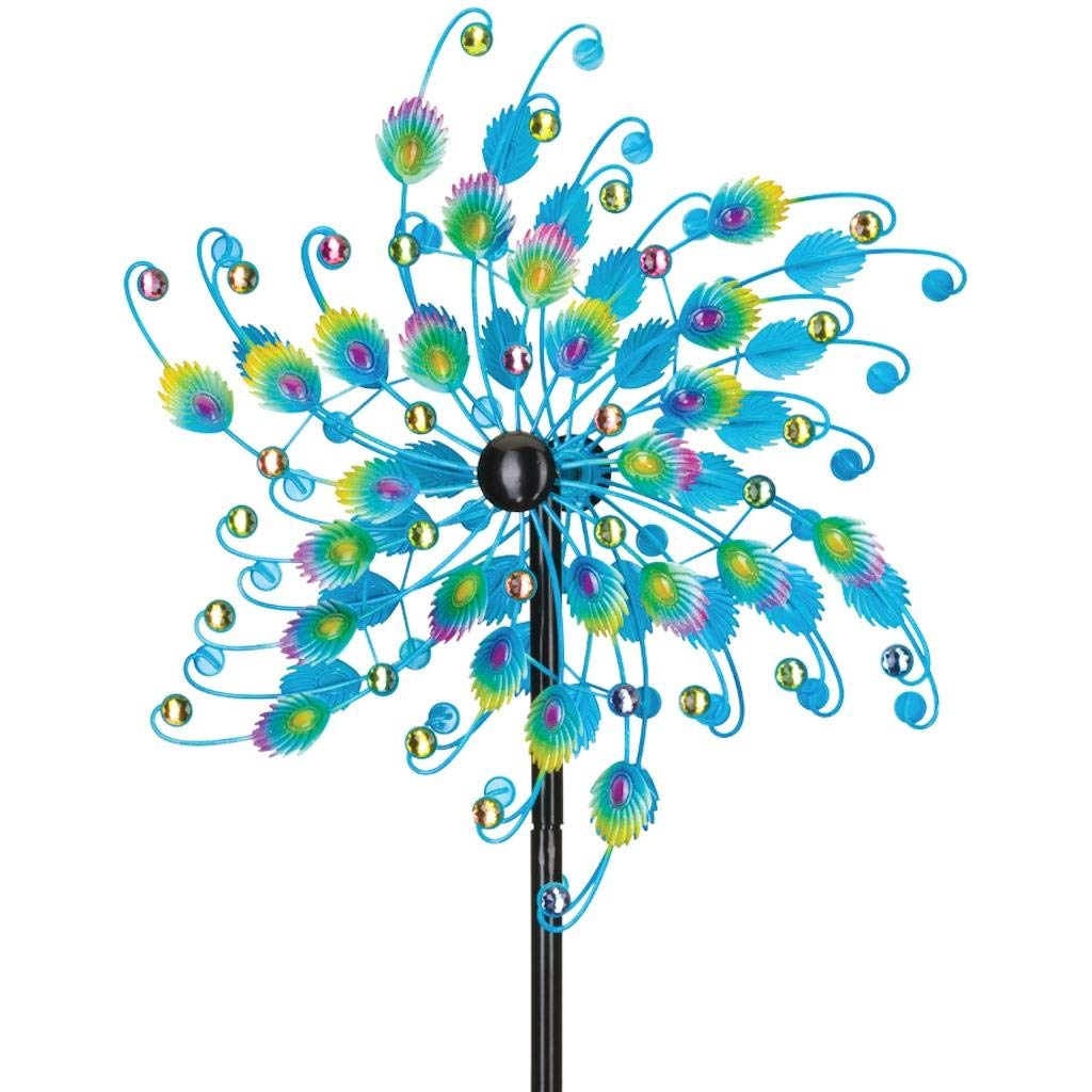 Regal 24'' Rotating Wind Spinner in Jeweled Peacock