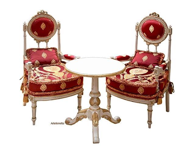 elegante sitzgruppe fur wohnzimmer oder esszimmer 2 stuhle und 1 tisch erstklassige mobel lackiert