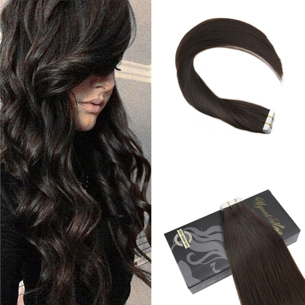 Amazon Ugeat 18 Inch Silkly Straight Tape In Hair Extensions