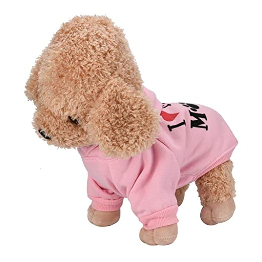 Fossrn Ropa Perro Pequeño Chihuahua Yorkshire Sudadera con Capucha - I MY MOM Invierno Ropa para Mascota Cachorro: Amazon.es: Deportes y aire libre