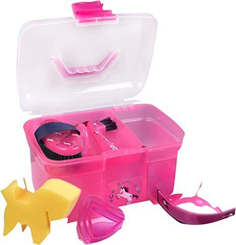 Reitsport Amesbichler - Caja de limpieza para niños, color rosa: Amazon.es: Deportes y aire libre