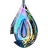 H&D Colorful Lamp Prisms Parts Loquat Shape Chandelier Glass Crystals Hanging Drops Pendants 76mm
