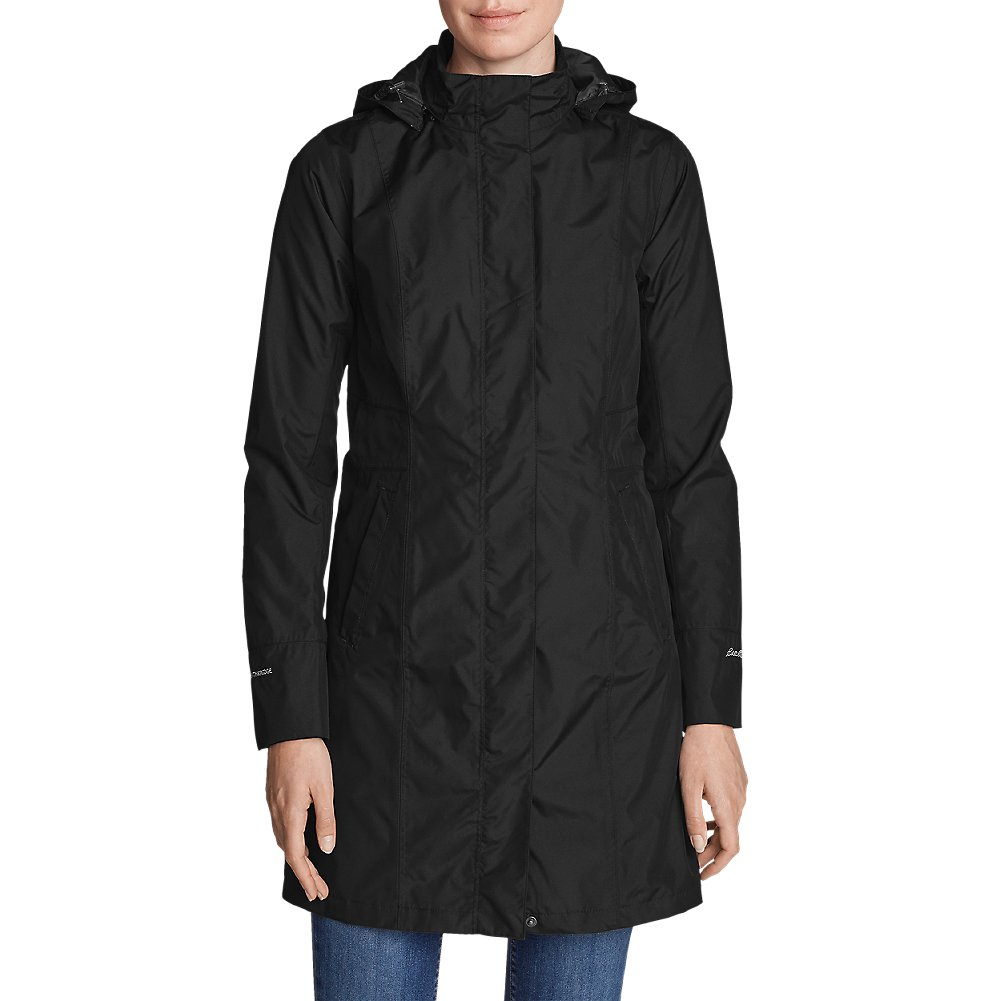 Eddie Bauer Women's Girl On The Go Insulated Trench Coat, Black M Regular by Eddie Bauer (Image #1)