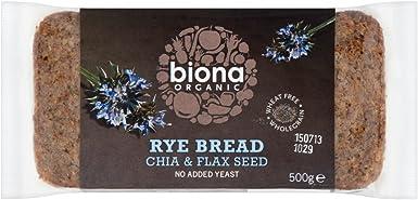 Biona - Pan de Centeno Orgánico con Chia y Semilla de Lino: Amazon.es: Alimentación y bebidas