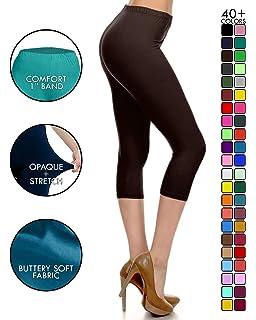 3271e6e6626e31 Leggings Depot High Waisted Capri Leggings - Soft   Slim - 37+ Colors