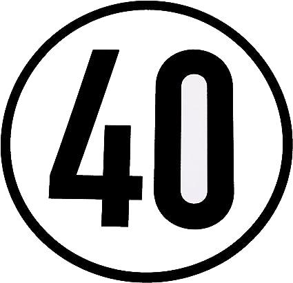 Wamo Geschwindigkeitsschild 40km H Auto