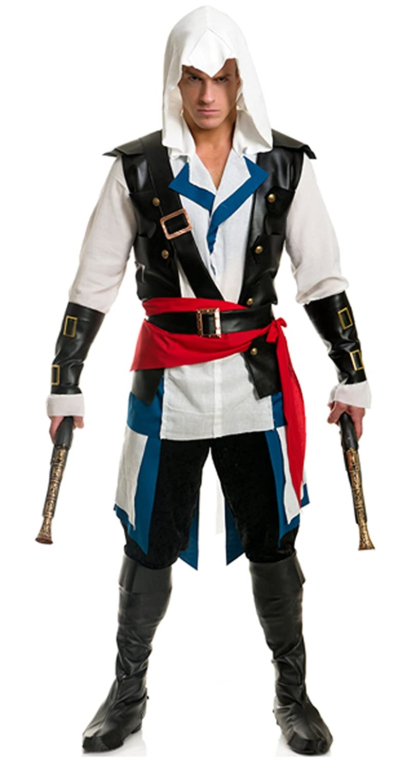 sc 1 st  Amazon.com & Amazon.com: Largemouth Menu0027s Cutthroat Pirate Assassin Costume: Clothing