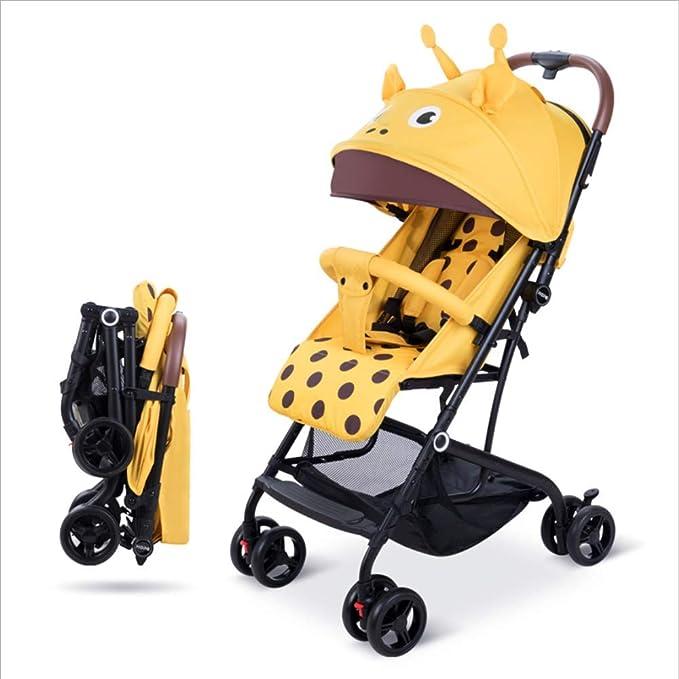 HXYL Carro para bebé, se Puede sentar y Plegar el Cochecito ...