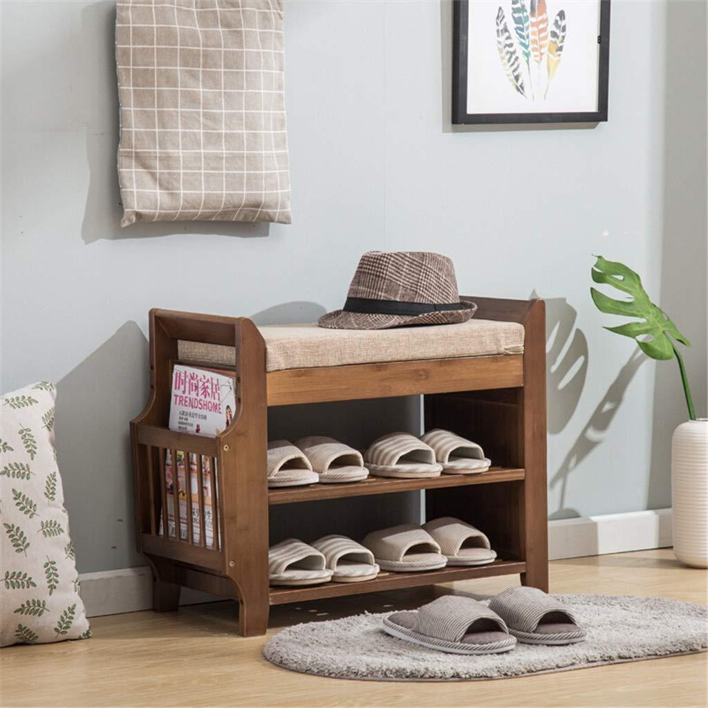 Banc de rangement pour chaussures Tabouret en bois massif pour chaussures Range-chaussures Armoire /à chaussures en bambou Bancs de rangement pour tabourets modernes et minimalistes