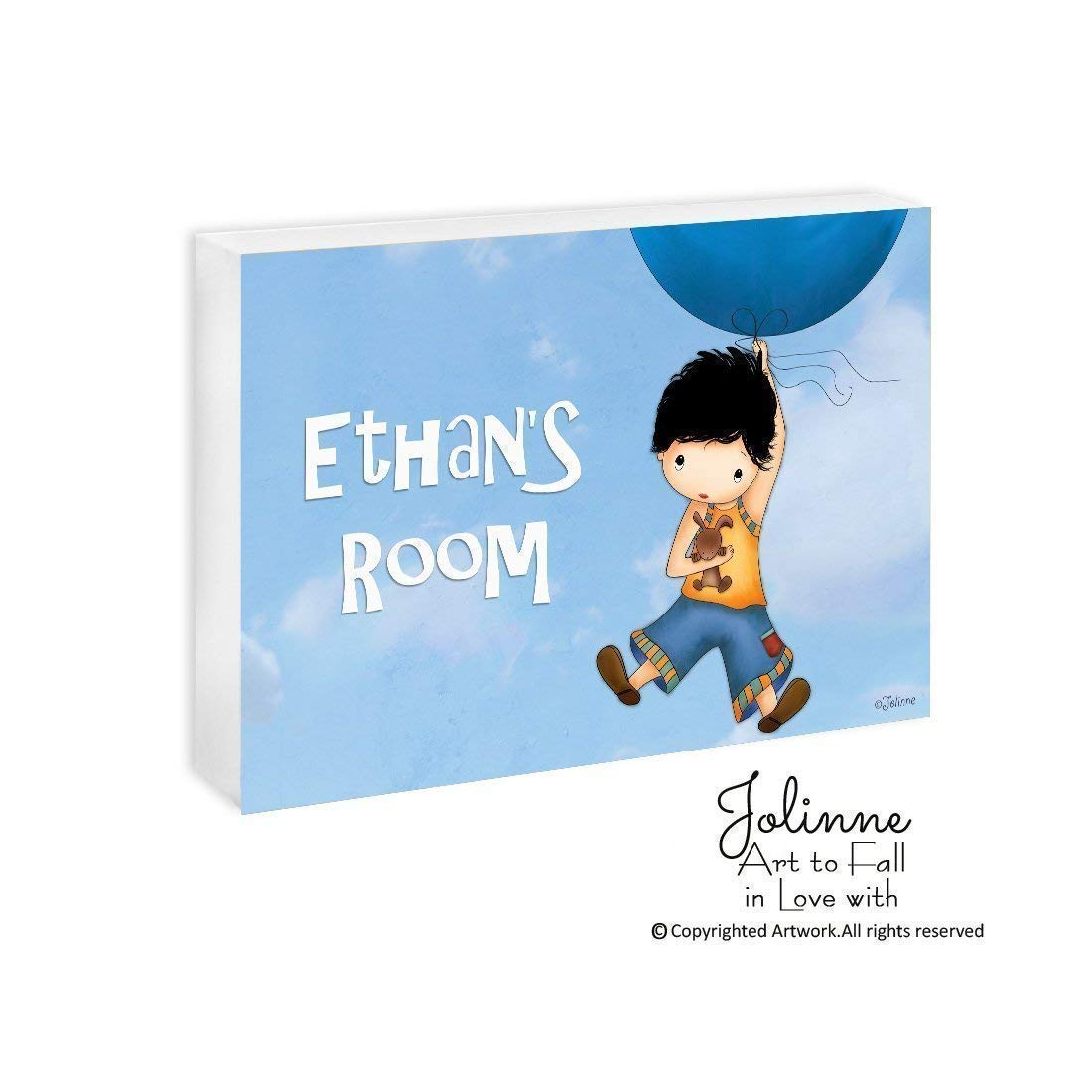 Boys Room Decor Personalized Nursery Wall Art Kids Name Plaque Childrens Artwork
