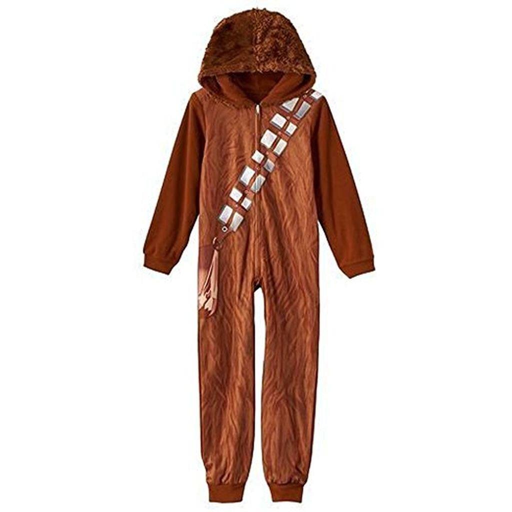 STAR WARS CHEWBACCA Size 6 One-Piece Hooded Pajama Sleeper w/ Fur Hood