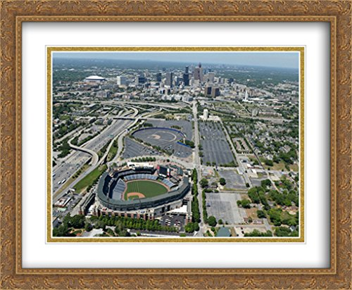 - Turner Field 2X Matted 34x28 Large Gold Ornate Framed Art Print from The Stadium Series