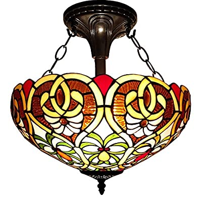 Amora Lighting AM113HL16 Tiffany Style Victorian Hanging Lamp 16 inches Wide