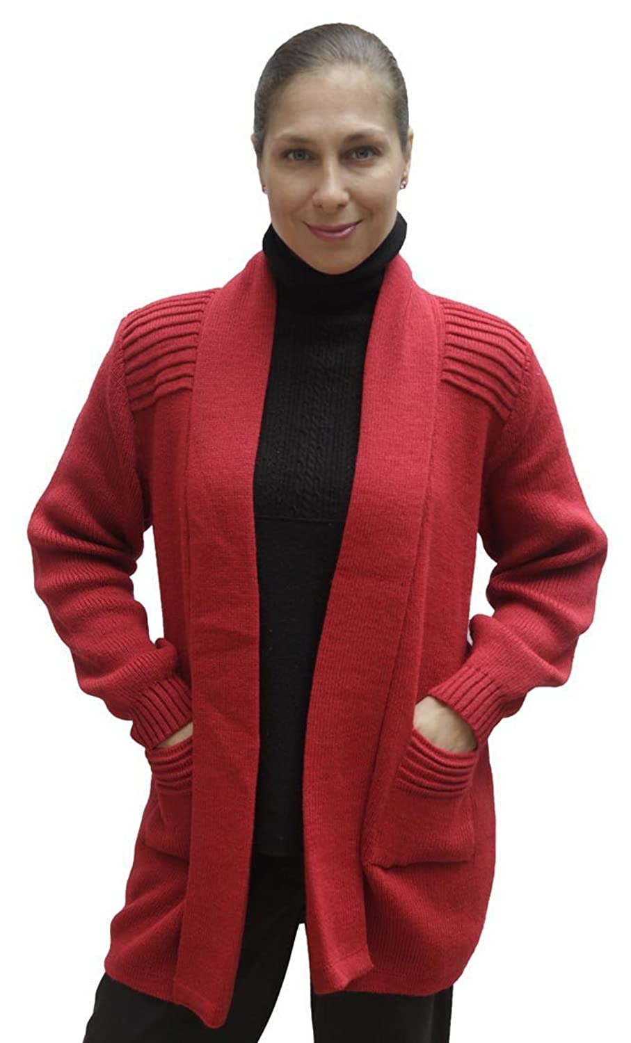 Women's Soft Alpaca Wool Knitted Coat Sweater