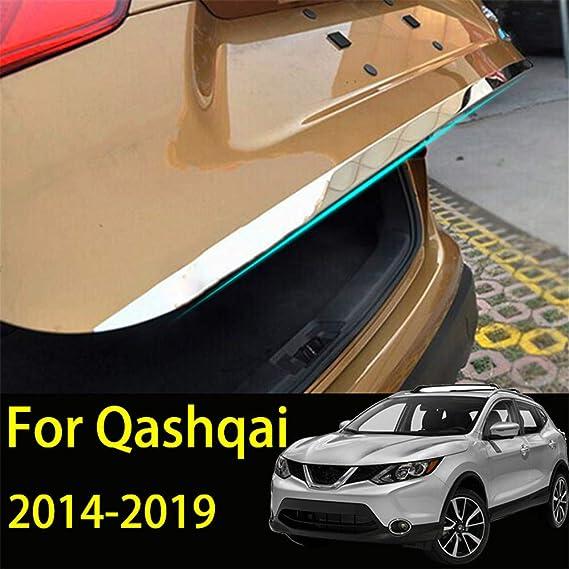 Tapa de la tapa del portón trasero para Qashqai J11 2016-2019 Tronco trasero de acero inoxidable Tira de la puerta trasera Etiqueta adhesiva Moldura ...