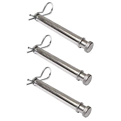 B&W Hitches TS35010 Set of 3 Tow and Stow Stainless Steel Receiver Hitch Pins w/Keeper Clips: Automotive