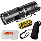 Nitecore MT10C 920 Lumen Multitask Tactical Flashlight with Red Light, Rechargeable Battery, and LumenTac Battery…