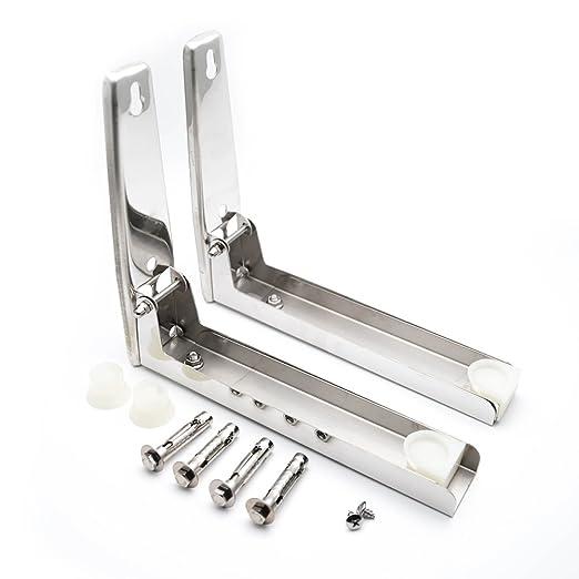 2 soportes de acero inoxidable para horno de microondas y ...