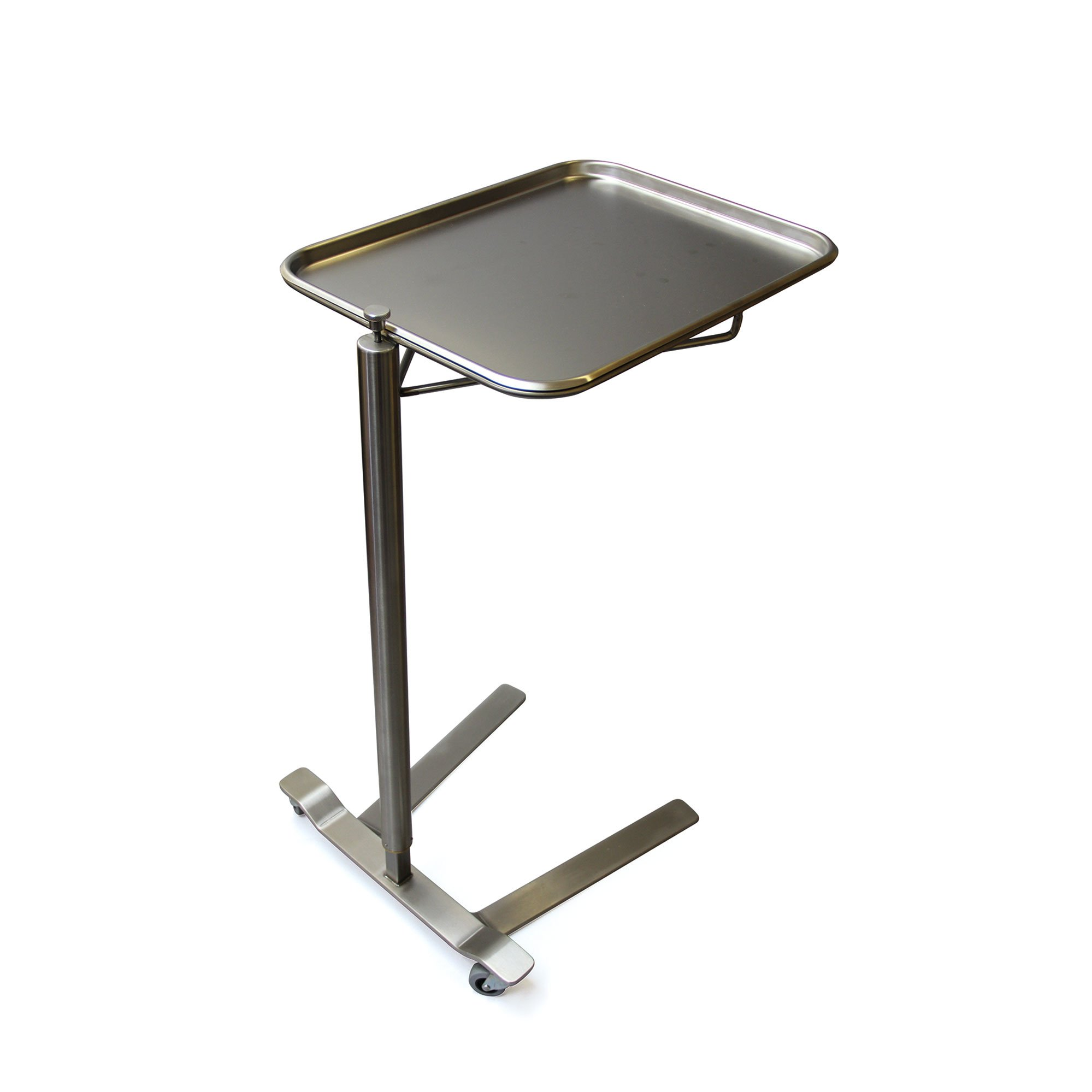 Stainless Steel Thumb Control Mayo Stand 16.25'' W x 21.25'' L Tray Size