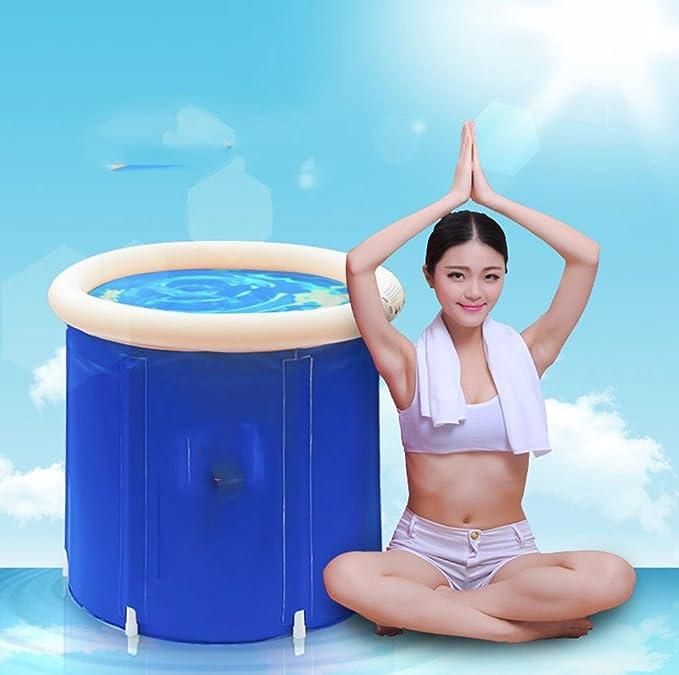 Piscina inflable gruesa hinchable plegable caliente de los niños Bañera inflable azul de la piscina de los niños , blue , 70cm: Amazon.es: Hogar