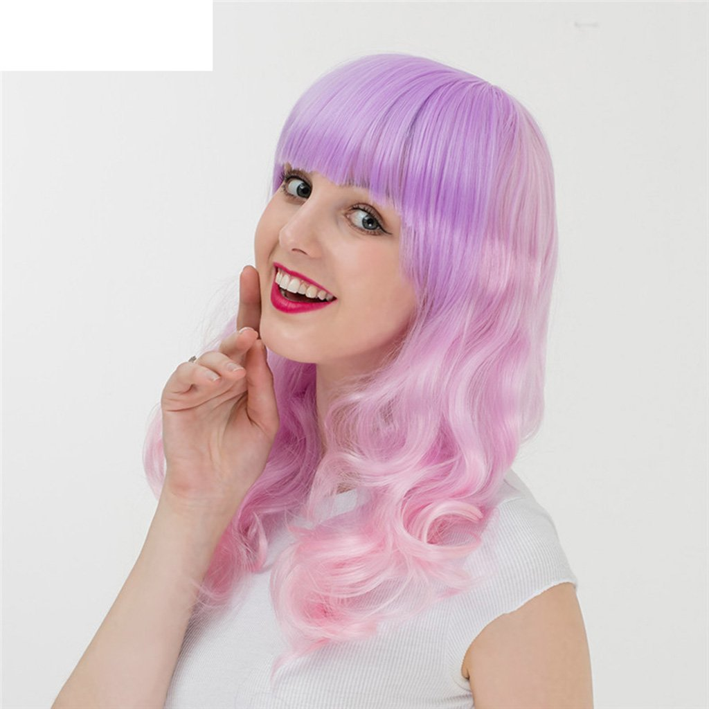 Amazon.com: Gai Hua Home Harajuku Gradient Long Curly Hair Hood Girls Anime Wig COS (Color : Pink): Home & Kitchen