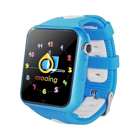 ILYOReloj Deportivo Reloj para niños Reloj GPS Posicionamiento Inteligente para Estudiantes de Cinco Teclas de una