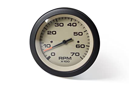 Sierra International 59703P Sahara O/B & 4-Stroke Gas Engines 0-7000 Rpm  Dial Range Electric Tachometer, 3