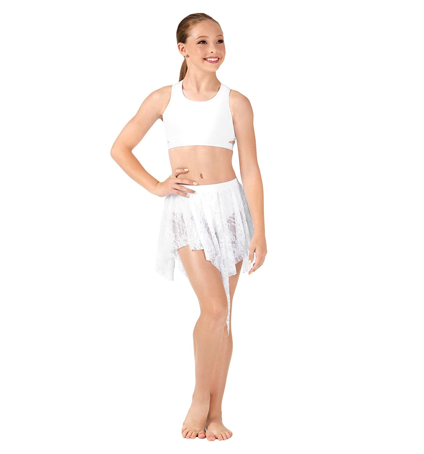 Body Wrappers Lace Back Tank Dance Crop Top LC1023