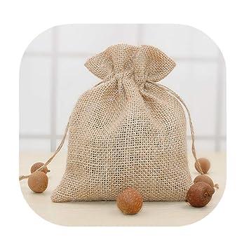 Amazon.com: Bolsas de regalo vintage de arpillera natural ...