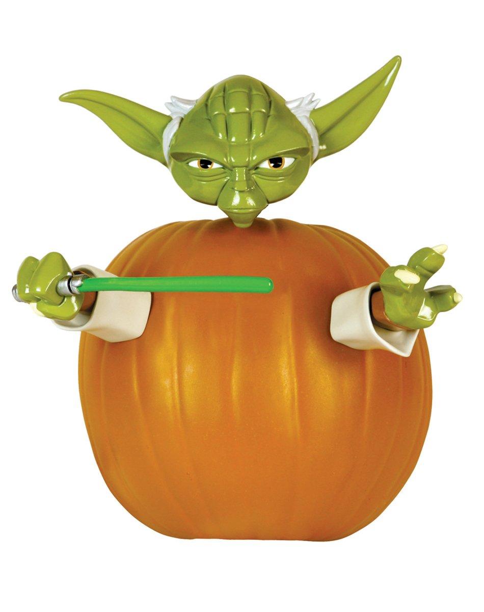 amazon com star wars yoda pumpkin push in halloween decorating