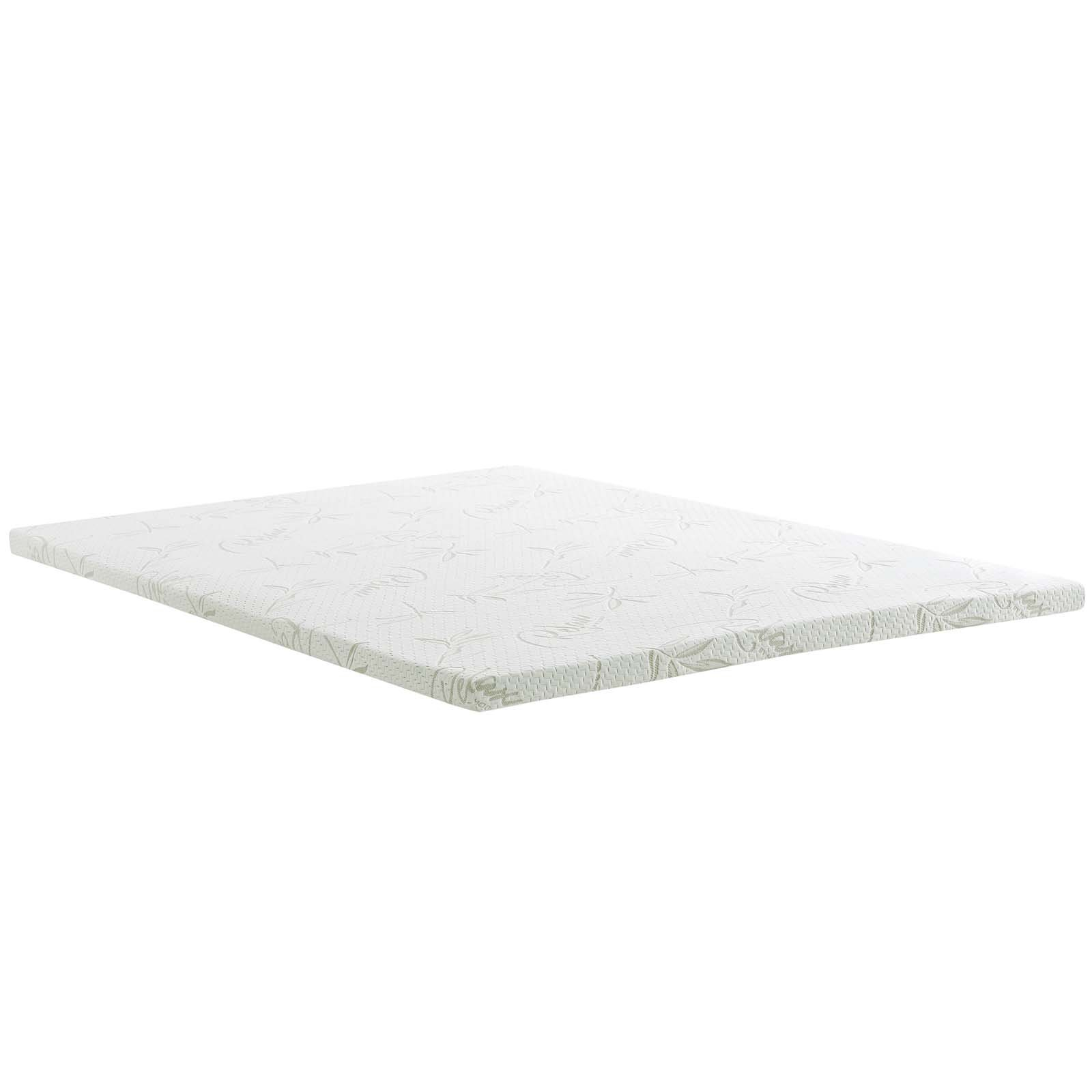 Modway Relax 2'' Inch King Gel-Infused Cooling Certi-PUR US Certified Memory Foam Mattress Topper