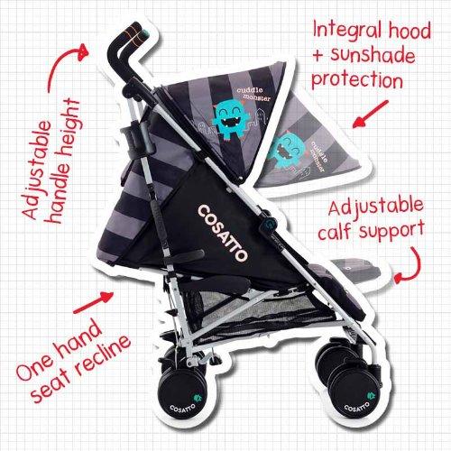 Amazon.com : Cosatto Supa Stroller (Cuddle Monster) : Baby