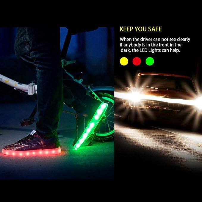 Herren Leuchtende LED Sportschuhe - hibote USB Aufladung Schuhe 7 Farbe Turnschuhe Schuhe Sneaker Größe 39-45 lWPqin61